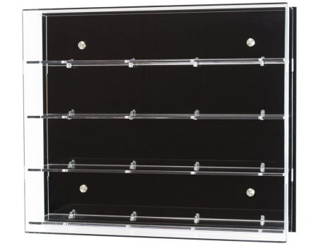 4 Shelf Wall Display Cabinet